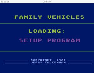 APX Family Vehicle Expense Setup Loading