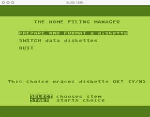HFM Prep Disk Confirm