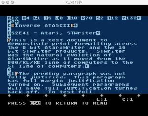 STWriter AtariWriter Editing