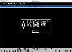 STWriter Main Menu V3 GEM On