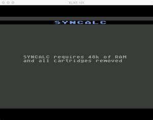 Synapse SynCalc Boot Error