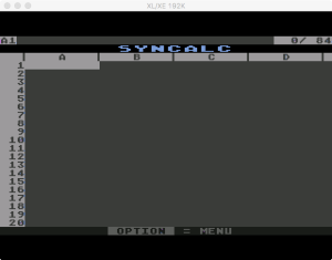 Synapse SynCalc Interface 1985