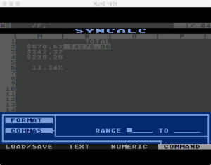 Synapse SynCalc Format Commas