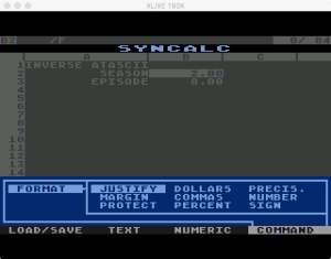 Synapse SynCalc Format Menu