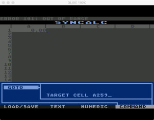 Synapse SynCalc Error Out Of Range
