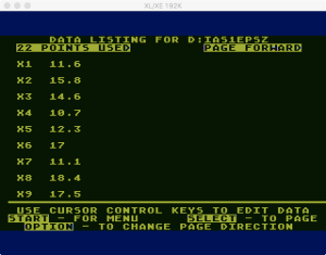 Atari Statistics I Edit 1