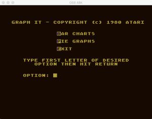 Atari Graph It Bar Pie Menu