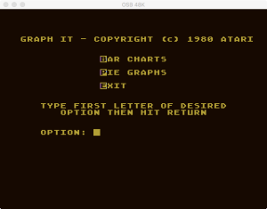Atari Graph It Bar Pie Menu