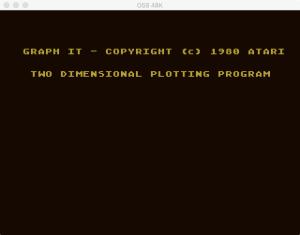 Atari Graph It XY 1