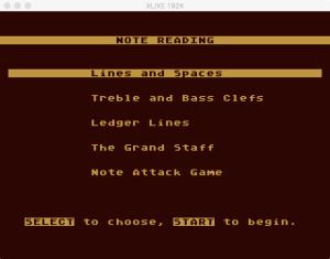 AtariMusic I 1 0 Menu