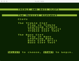AtariMusic I 1 2 Menu