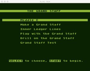 AtariMusic I 1 4 Menu
