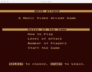 AtariMusic I 1 5 Menu