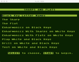 AtariMusic I 2 3 Menu