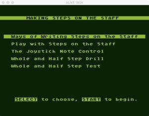 AtariMusic I 2 5 Menu