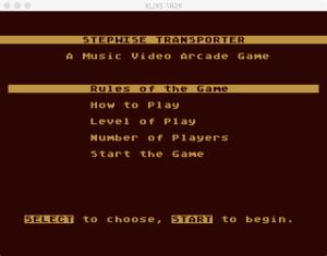 AtariMusic I 2 6 Menu