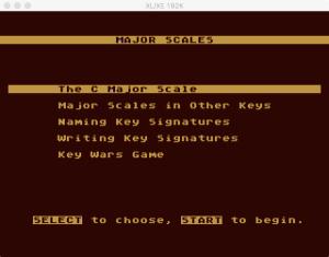 AtariMusic II 1 0 Menu