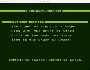 AtariMusic II 1 0 1 Menu