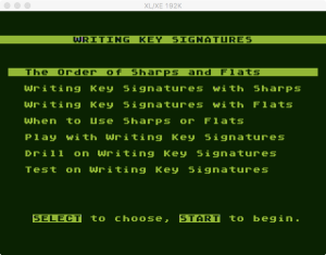 AtariMusic II 1 4 Menu