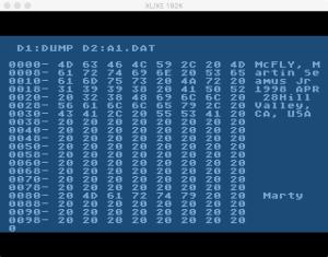 Family Tree Data File Dump