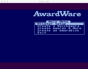 AwardWare Main Menu