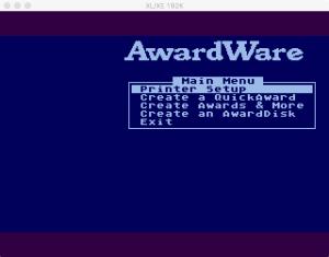 AwardWare Main Menu