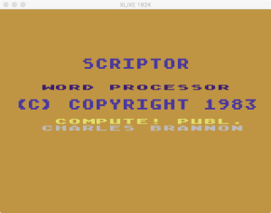 Scriptor boot splash 1