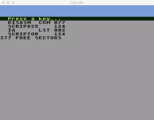 Scriptor DOS directory