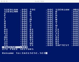 SpeedScript DOS Rename