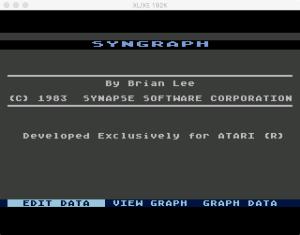SynGraph Menu