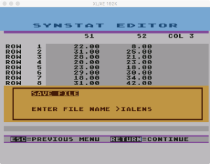 SynStat Edit 7 2