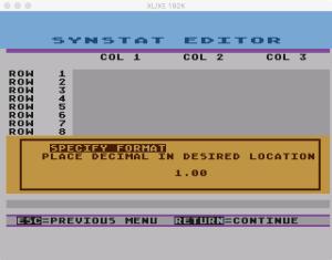 SynStat Format 2
