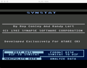 SynStat Manipulate Menu