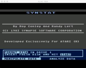 SynStat Format Menu