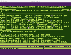 HomePak Text Options