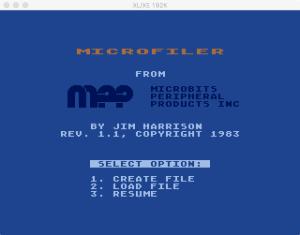 MicroFiler Menu
